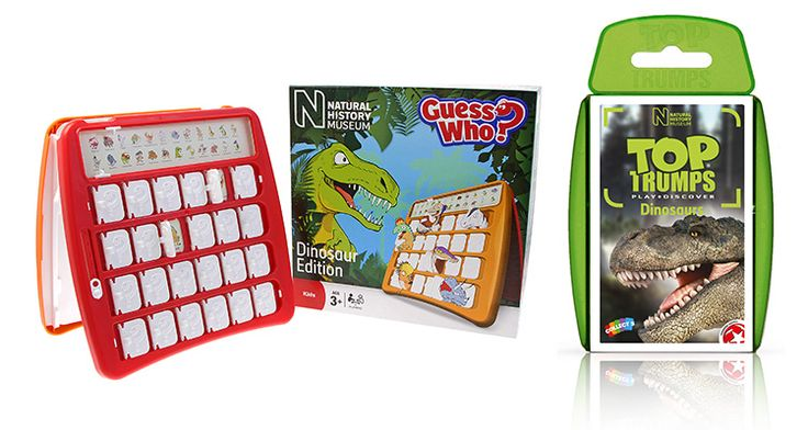 WIN! A Museum Dinosaur Guess Who Game and a Museum Dinosaur Top Trumps from the Natural History Museum Shop