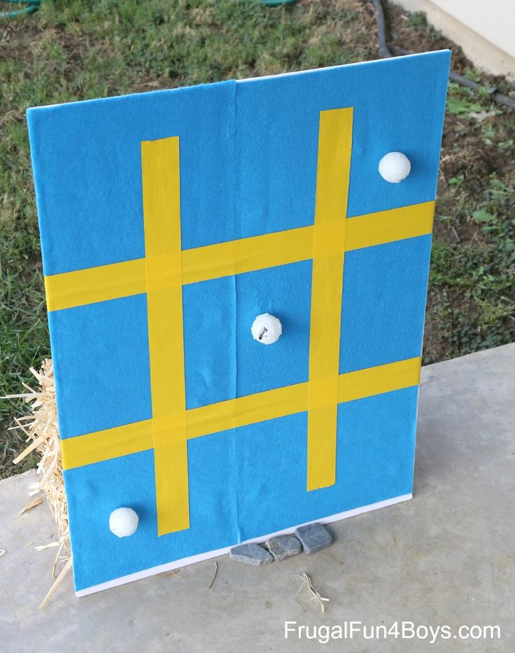 Backyard Carnival Games: Sticky Tic Tac Toe