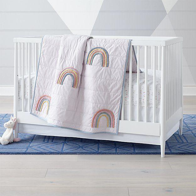 Lucky Rainbow Crib Bedding Crate And Barrel Crib
