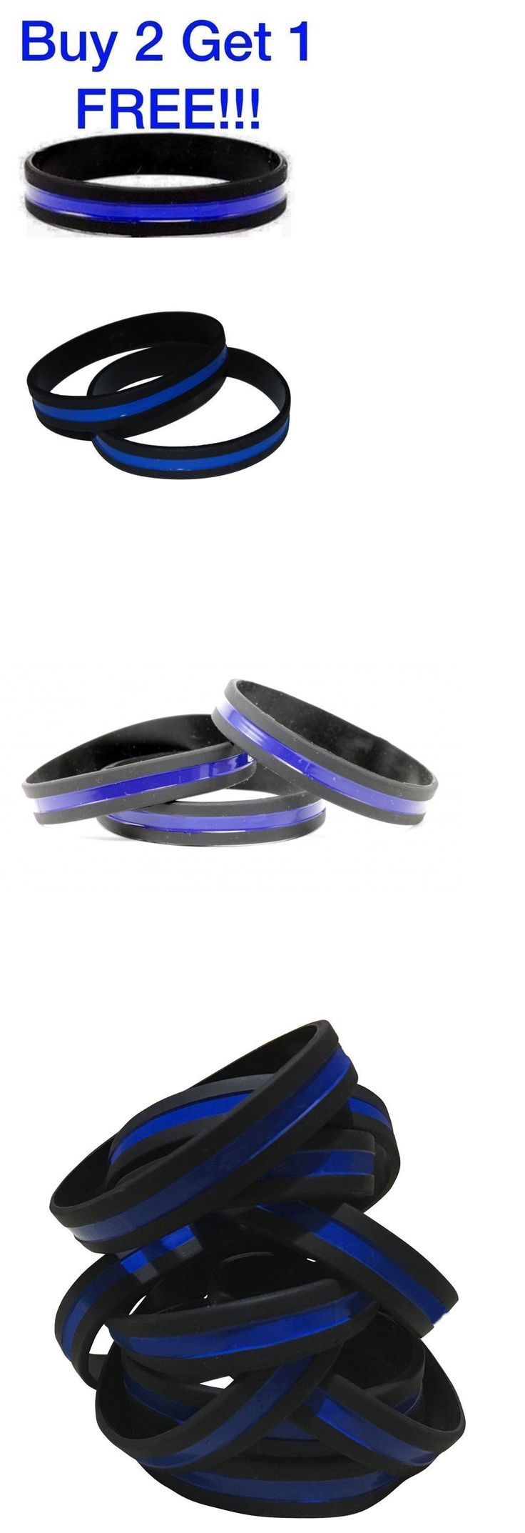 Wristbands 112603: Thin Blue Line Bracelet Wrist Band (1) Silicone Police Support Wristband Cop K-9 -> BUY IT NOW ONLY: $249.95 on eBay!