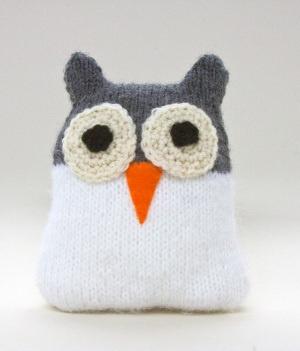 Free Knitting Pattern Snow Owl Toy