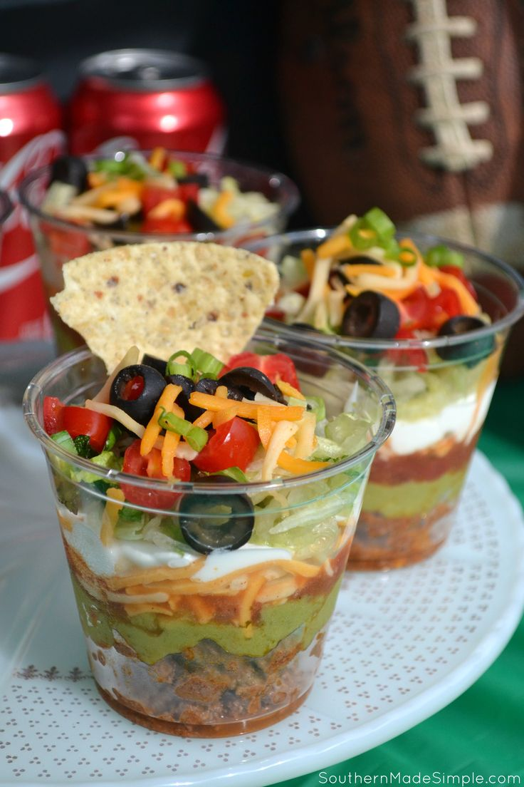 Get Game Day Ready with Touchdown Taco Cups