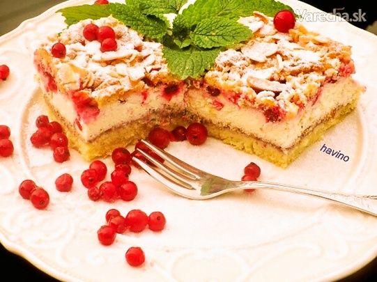 Tvarohovo-ríbezľový koláč (fotorecept)