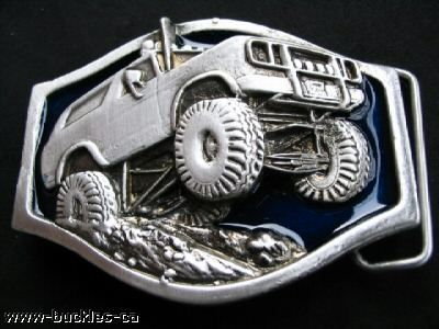 ALL TERRAIN 4WD BIG CAR n TRUCK 4X4 TRUCKER BELT BUCKLE