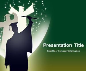 13 best educational powerpoint templates images on pinterest free graduation powerpoint template with green background is a free powerpoint theme and template that you toneelgroepblik Images