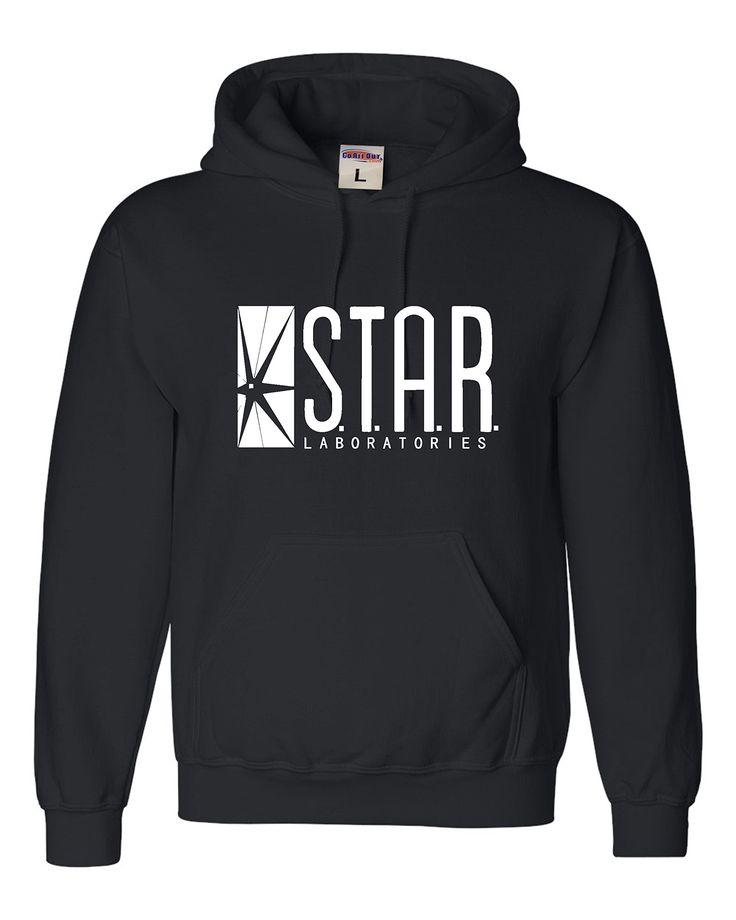 Medium Black Adult Star Labs Sweatshirt Hoodie