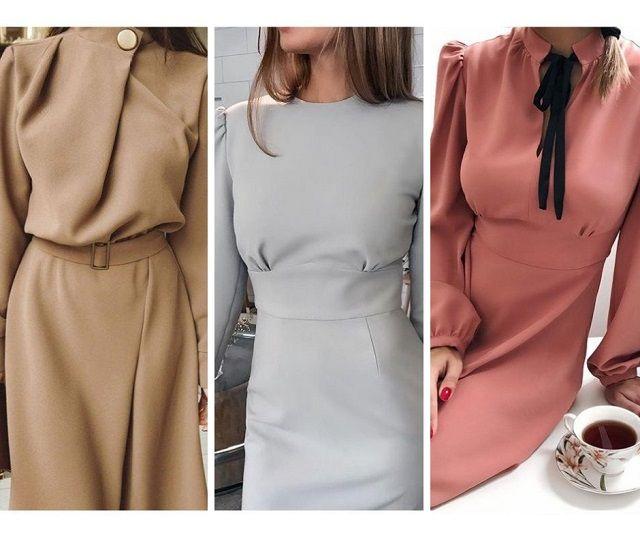 модели платьев для работы в офисе