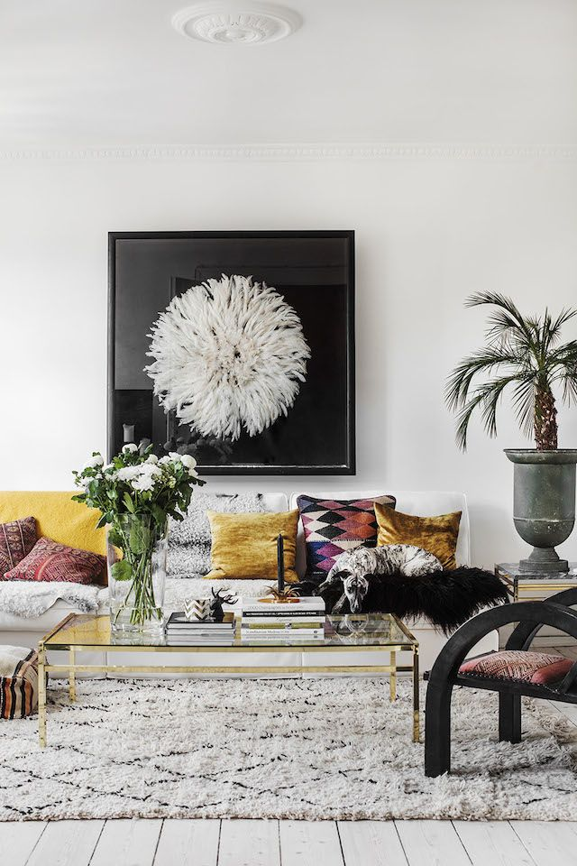 An eclectic Copenhagen apartment with attitude | my scandinavian home | Bloglovin'