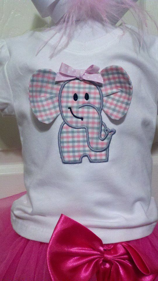 3D Elephant Machine applique design by TheAppliqueJunkie on Etsy, $4.00