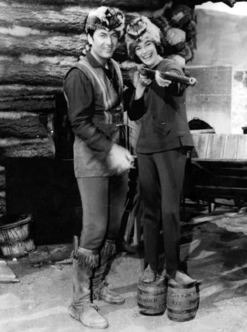 """""""Daniel Boone,"""" starring Fess Parker, Ed Ames and Patricia Blair, 