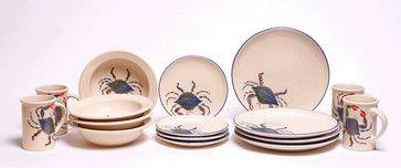 Blue Crab Dinnerware Set tropical-dinnerware-sets