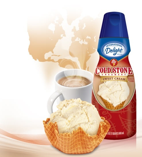 International Delight Cold Stone Creamery Sweet Cream flavored coffee creamer... AMAZING!!!