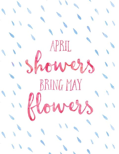 Free Printable April Showers Bring May Flowers | Wit & Wander for By Dawn Nicole
