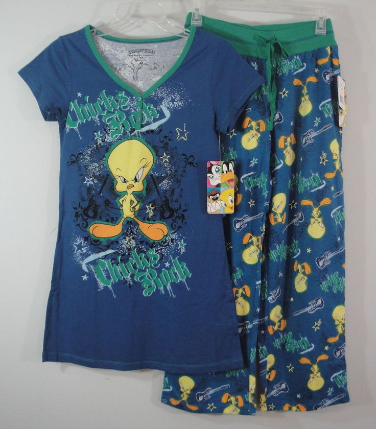 Tweety Bird Sleepwear Dorm Shirt Long Top & Lounge Pants ...