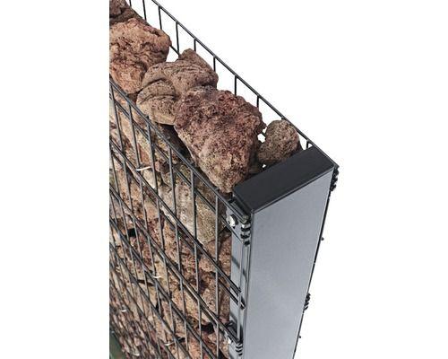 Gabionen-Pfosten Zenturo 150 cm, anthrazit