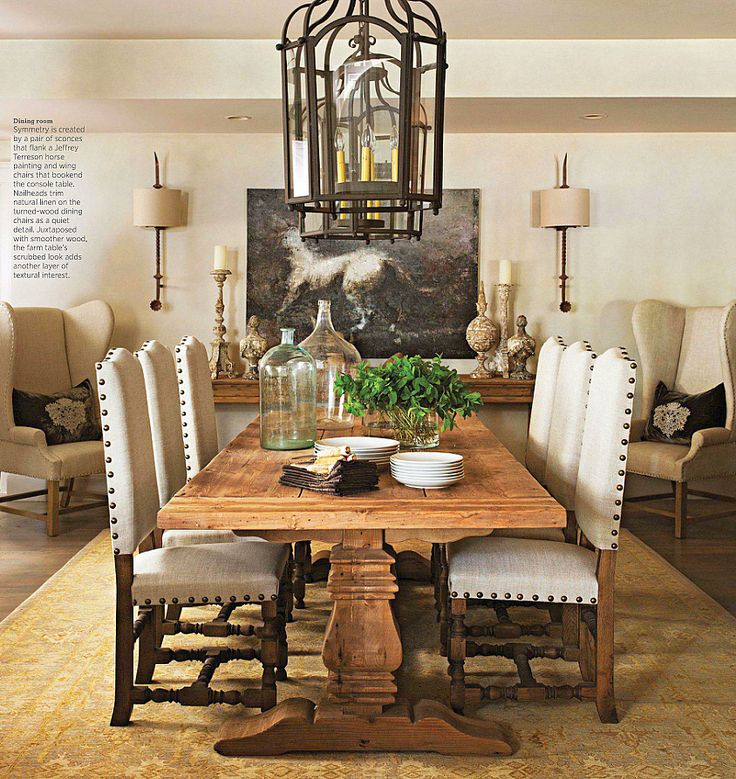 Love this table with nailhead trimmed chairs comedores pinterest comedores mesa de - La table d owen ...