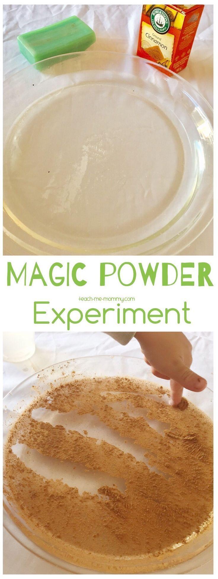 Magic Powder Experiment, fun way to teach surface tension!