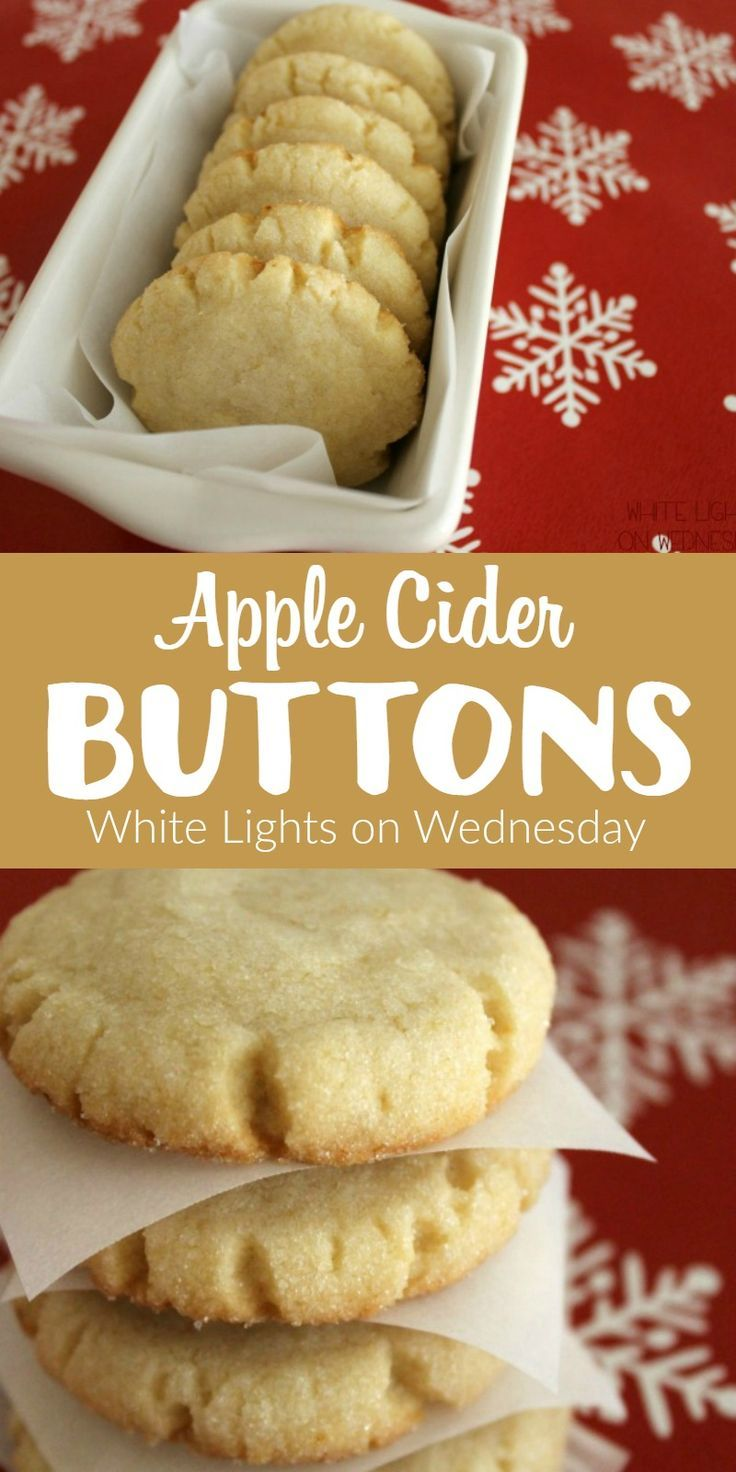 Apple Cider Buttons | White Lights on Wednesday