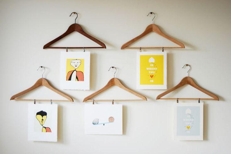 Hanging prints