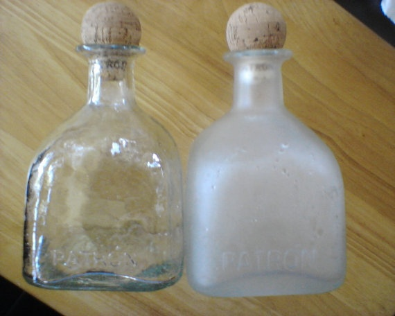 HALF PRICE SALE Empty recycled Patron Tequila by PattiesPassion, $3.99