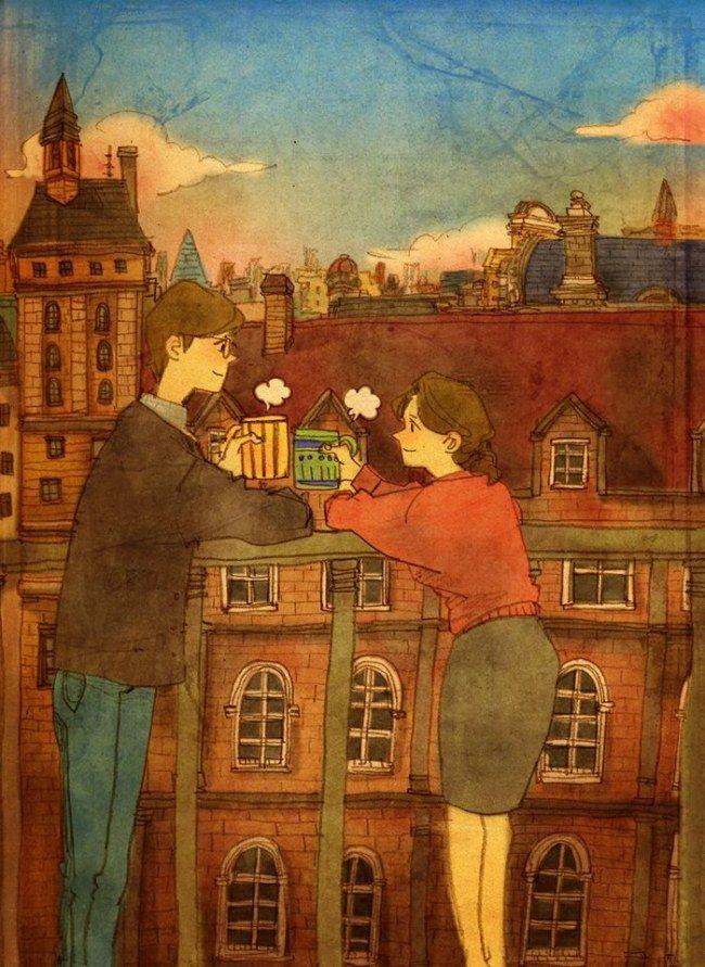 30 preciosas imágenes que demuestran que el verdadero amor se mide en los pequeños detalles #love #amor #enamorar #ideas