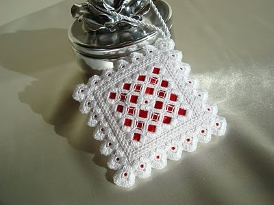 Hardanger needlework ornament