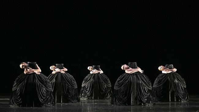 Australian Ballet dancers in Jiri Kylian's Petite Mort. Picture: Jess Bialek