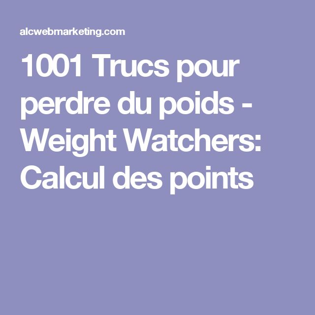 Recettes weight watchers pinterest for 1001 trucs maison