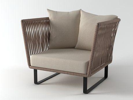 Kettal Bitta club armchair 3d model | Rodolfo Dordoni