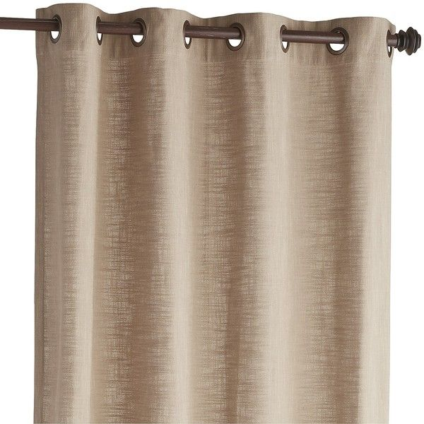 Pier 1 Imports Tan Cassidy Chambray Curtain ($40) ❤ liked on Polyvore featuring home, home decor, window treatments, curtains, tan, taupe curtains and pier 1 imports