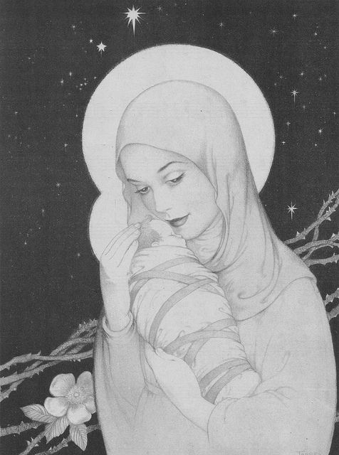 Madonna and Child b-w by katinthecupboard, via Flickr