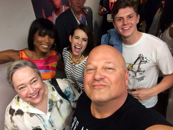 Angela Bassett, Emma Roberts, Evan Peters, Kathy Bates, and Michael Chiklis