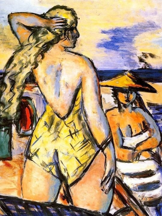 Max Beckmann (German, 1884-1950), Girls by the Sea, 1938. Oil on canva