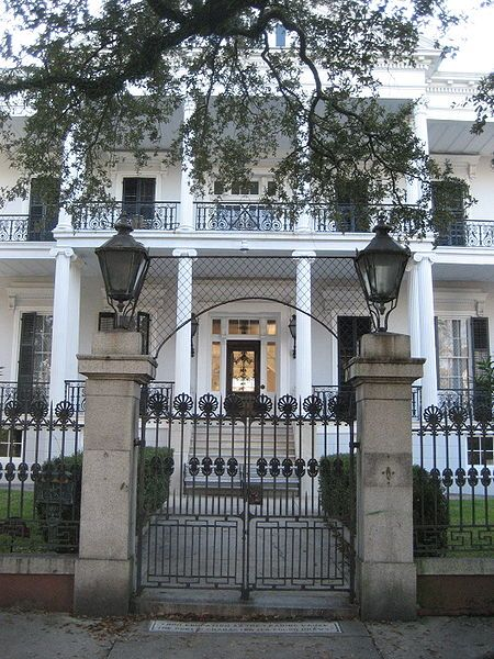 Buckner Mansion, Jackson Avenue, the Garden District of New Orleans, AKA.....Miss Robicheaux's Adademy in American Horror Story - Coven