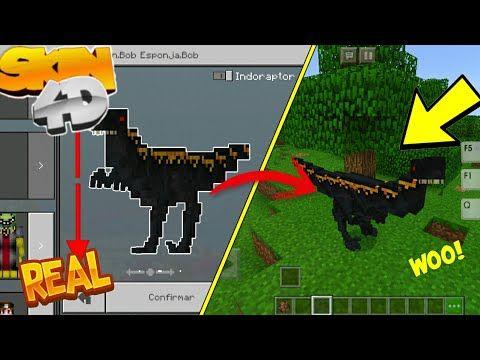 Skins 4D Para Minecraft Pe 1 6    Skin 4D Del Indoraptor