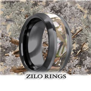 #Anglet Ring by #Zilo Rings  This stunning Anglet ring is ideal for the camouflage lover in your life. The incredibly strong ceramic will be able to stand up to the most rugged lifestyle and the camouflage inlay will speak to the heart of military personnel, avid hunters or people that are in love with being outdoors.  Price: $254.94