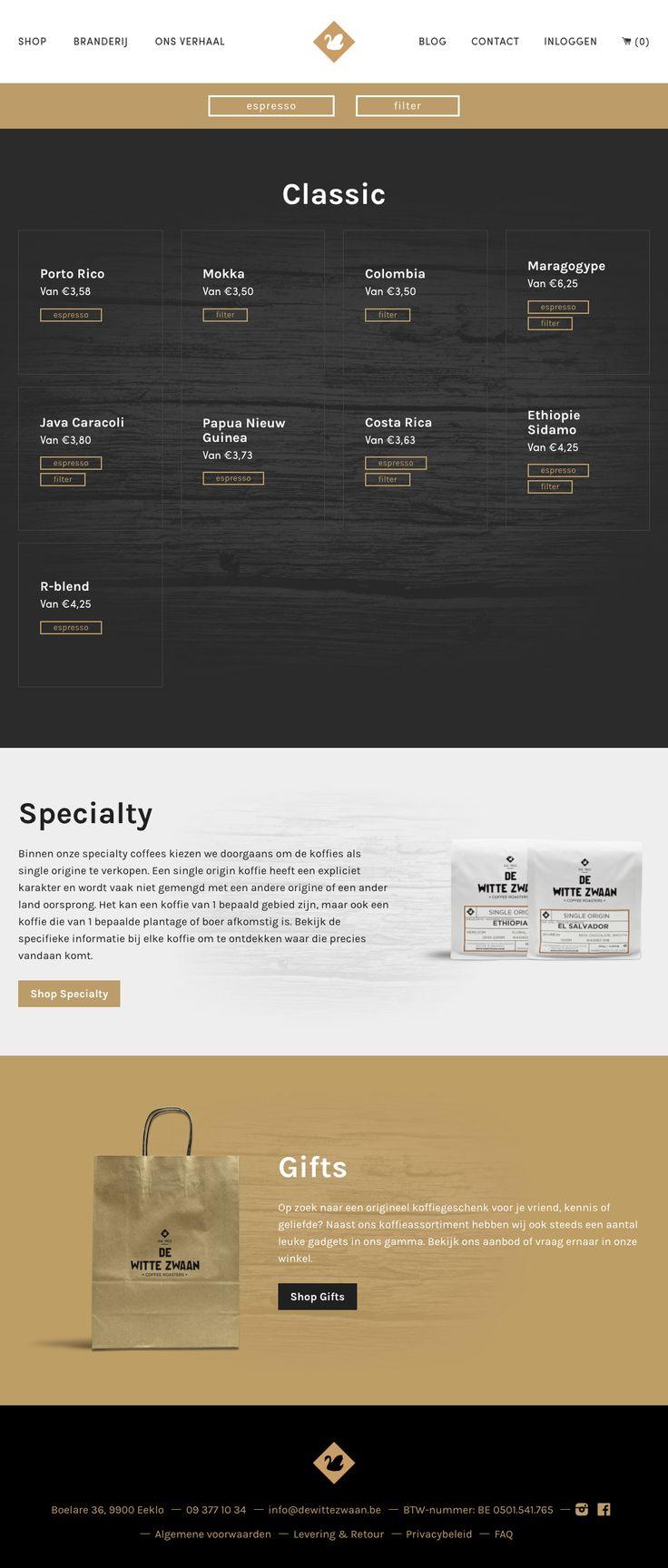 De Witte Zwaan - Webshop - Webdesign by Esign