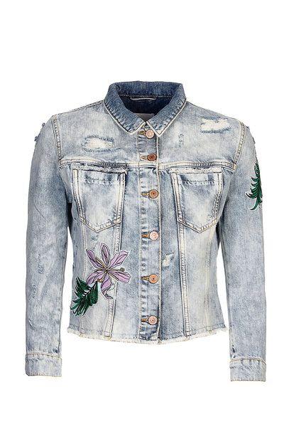 Bestickte Jeans-Jacke von Guess