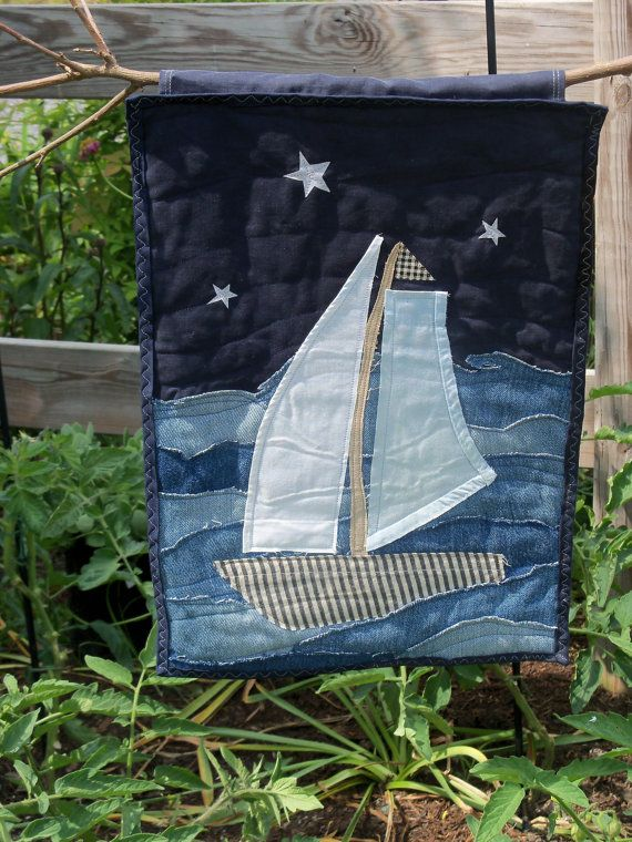 Sail Away Art Quilt, wall hanging