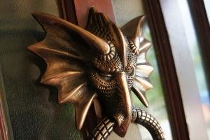 Dragon Door Knocker in Antique Copper - Antique Copper Door Knockers - Door Knockers - Door Furniture - Hardware - Catalogue  | Black Country Metal Works