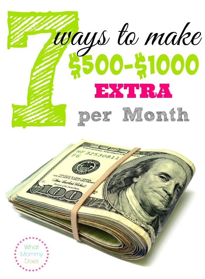 Looking for ways to make exra money from home? Here are 7 easy ways to make $500 to $1,000 extra monthly. They're money-making ideas that have worked for me & my friends.