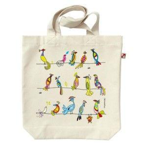 Plátěná taška Barevní ptáci