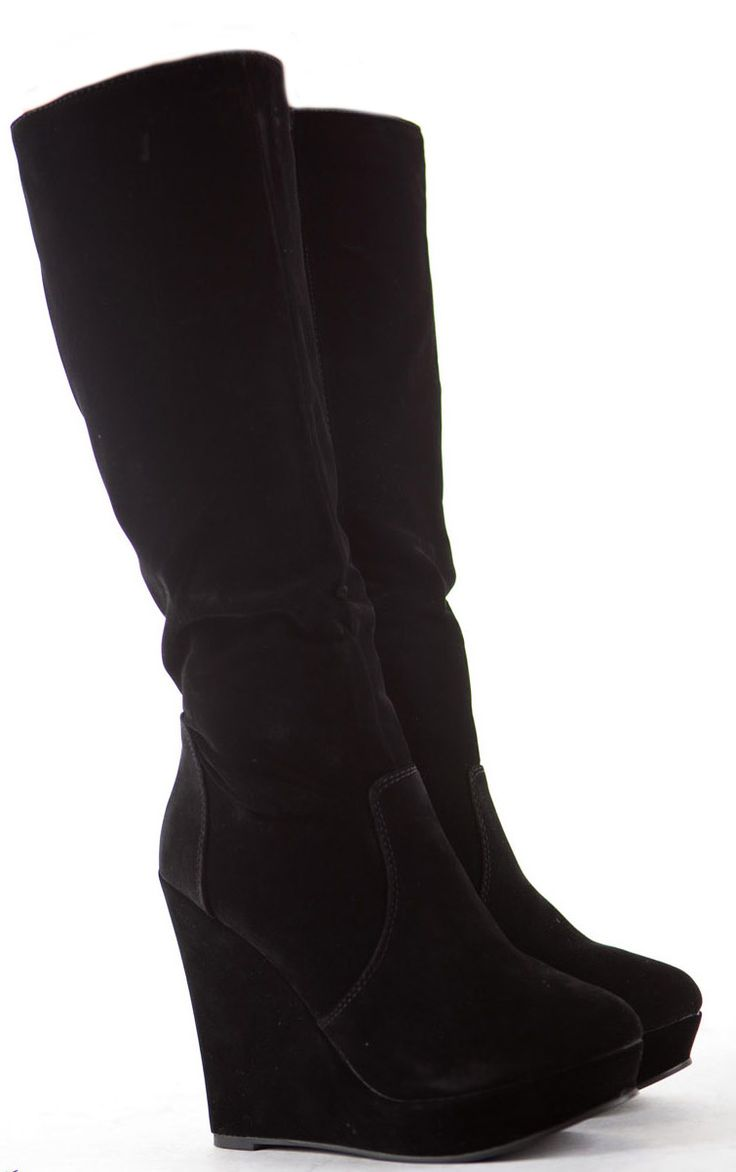 Womens Wedge Shoes Wedges High Heels Platform Winter Knee Boots Size 6 | eBay