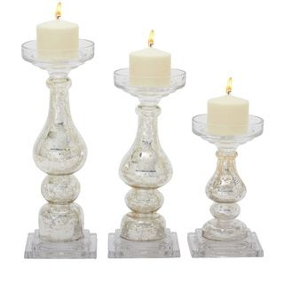 Shop for Off-white Glass Candle Holders (Set of 3). Get free shipping at Overstock.com - Your Online Home Decor Outlet Store! Get 5% in rewards with Club O!