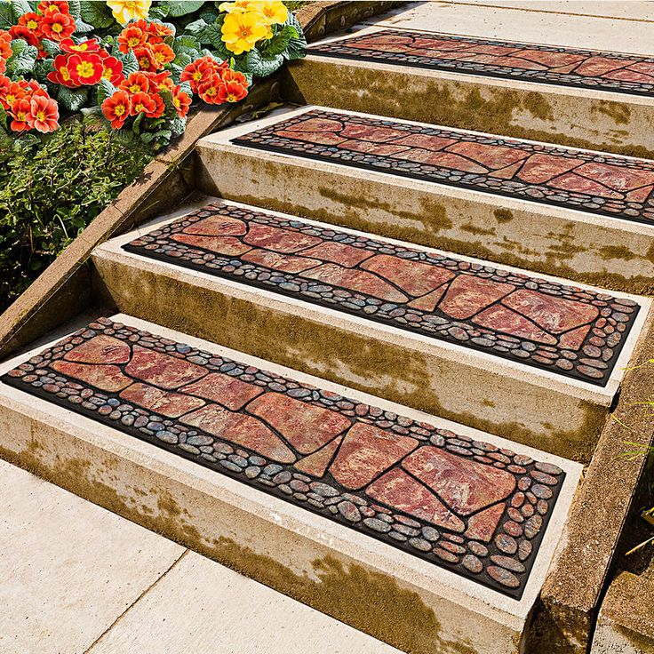 "2 rohožky na schody ""Kameny"", terakota | Magnet 3Pagen #magnet3pagen #magnet3pagen_cz #magnet3pagencz #3pagen #garden"