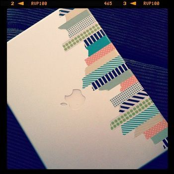 Japanese DIY ideas: decorate notebooks and tablets with washi tape - A Rinkya Blog