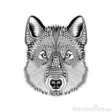 image result for wolf face drawing