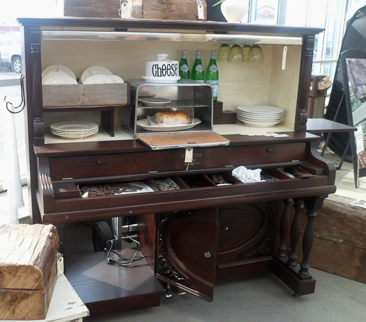 Piano Converted For Kitchen Storage Pianos Pinterest