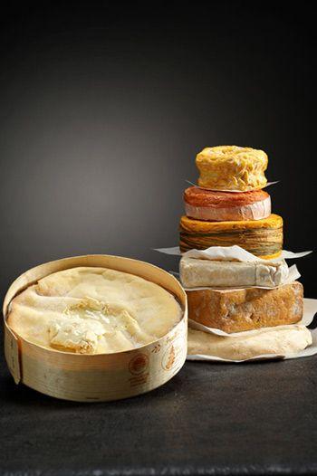 Assortiment de fromages à pâte molle et croûte lavée.