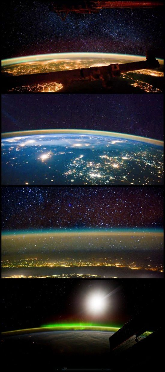 Taken from the International Space Station, these impressive time-lapse images can discover space and stars in a new light.
